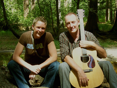 Strings and Martin in Yosemite Park on Labor Day, 2008