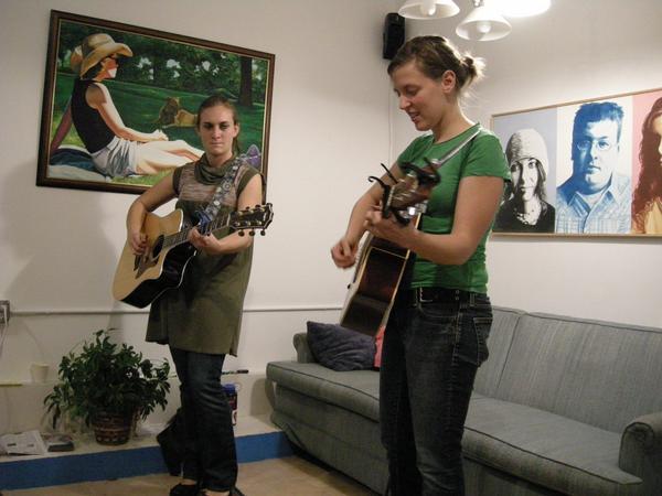 Liz and Brianna Playing