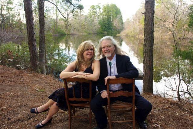 Adler & Hearne Sitting by Goolsby's Pool